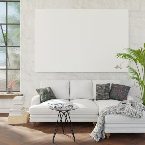 Living,Room,With,Couch,And,Mockup,Pictures.,Clipping,Path,For